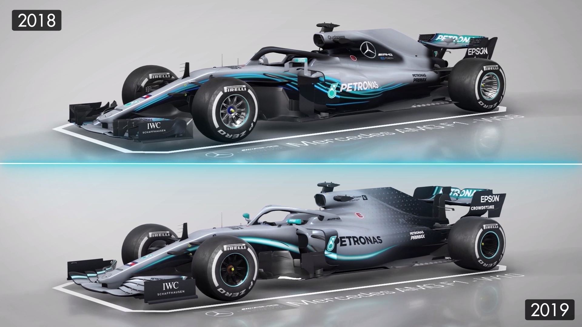 Mercedes 2018 And 2019 F1 Cars Compared Formula 1 Videos